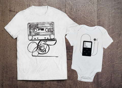 Cassette and Ipod Set - Clever Fox Apparel