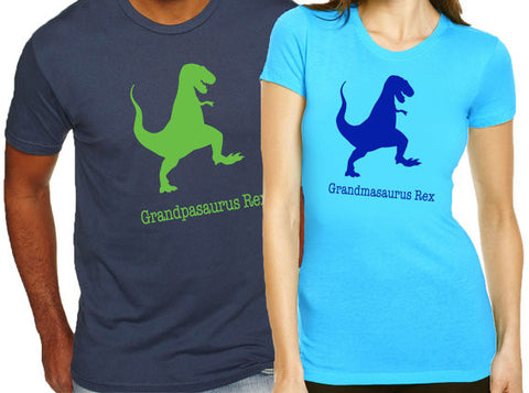 Grandpasaurus and Grandmasaurus Rex Set - Clever Fox Apparel