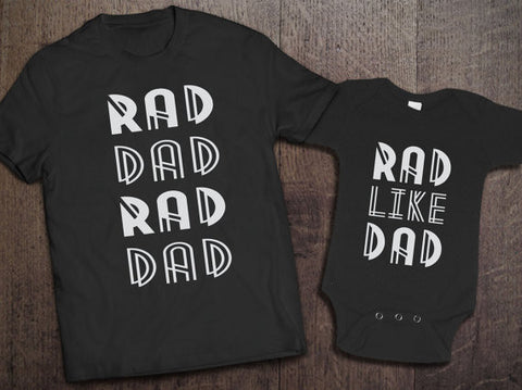 Rad Dad, Rad Like Dad Matching Set