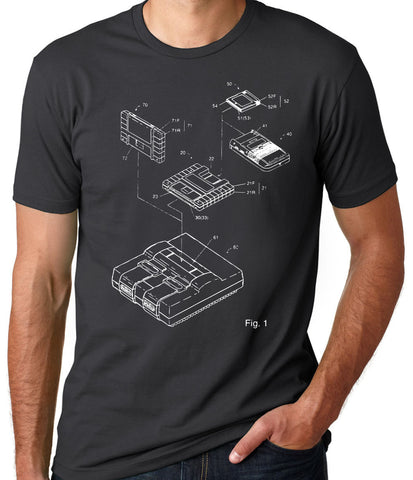 Super Nintendo Patent T-Shirt - Clever Fox Apparel