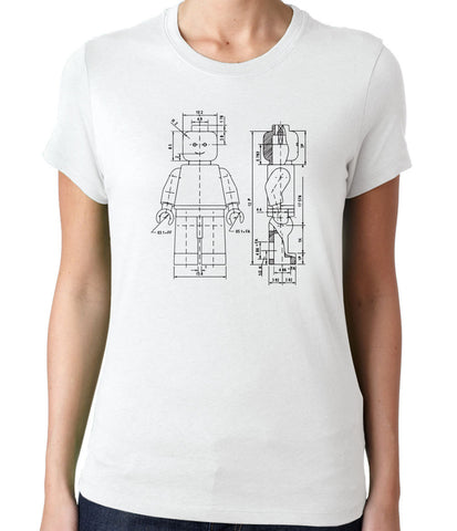 Lego Figurine Patent T-Shirt-Women's - Clever Fox Apparel