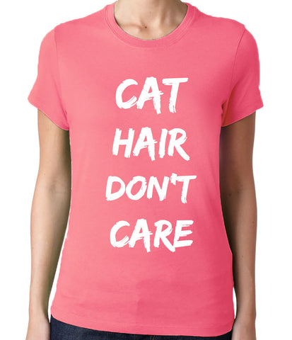 Cat Hair Dont Care T-Shirt - Clever Fox Apparel