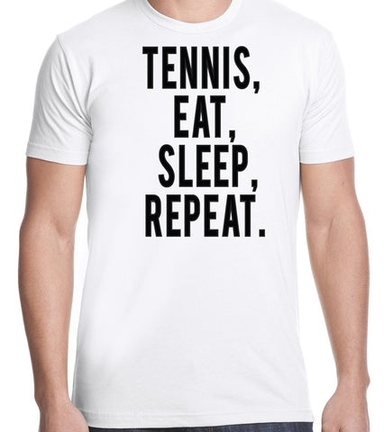 Eat Sleep Tennis Repeat T-Shirt-Men's - Clever Fox Apparel