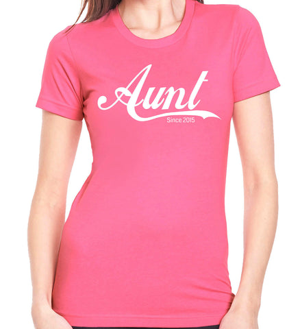 Aunt Since 2015 T-Shirt - Clever Fox Apparel