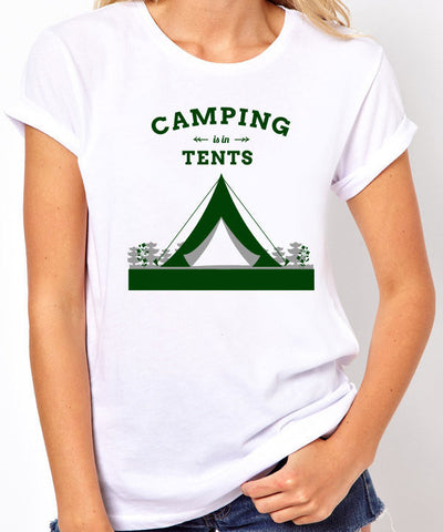 Camping is in Tents T-Shirt-Women's - Clever Fox Apparel