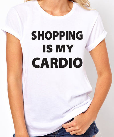 Shopping is My Cardio Shopping T-Shirt - Clever Fox Apparel