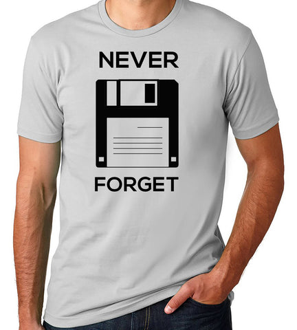 Never Forget the Floppy T-Shirt-Men's - Clever Fox Apparel