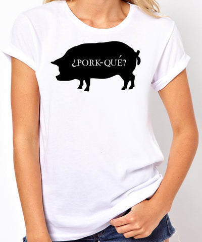 Pork-Que? T-Shirt-Women's - Clever Fox Apparel