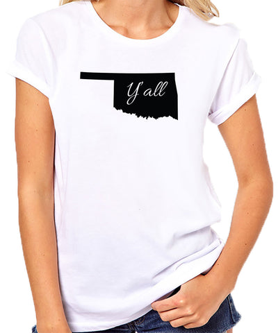 Oklahoma Yall T-Shirt-Women's - Clever Fox Apparel