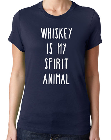 Whiskey is My Spirit Animal T-Shirt - Clever Fox Apparel