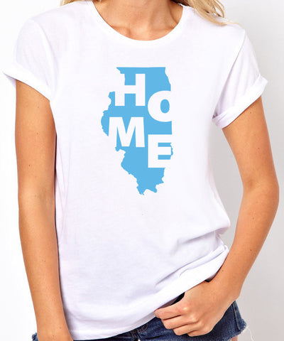 Illinois Home T-Shirt-Women's - Clever Fox Apparel