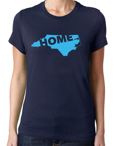 North Carolina Home T-Shirt-Women's - Clever Fox Apparel