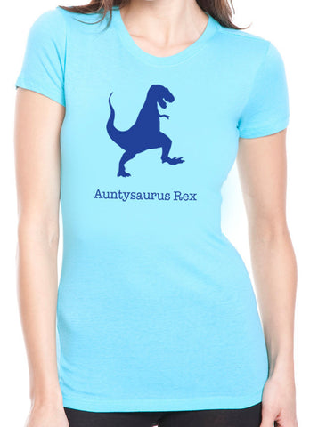 Auntysaurus Rex T-Shirt - Blue Print - Clever Fox Apparel