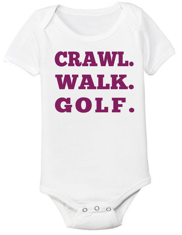 Crawl Walk Golf Bodysuit - Clever Fox Apparel