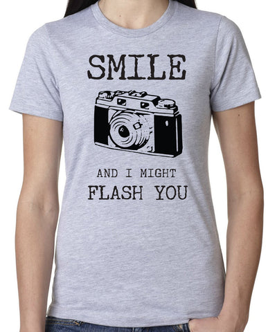 Smile I Might Flash You T-Shirt