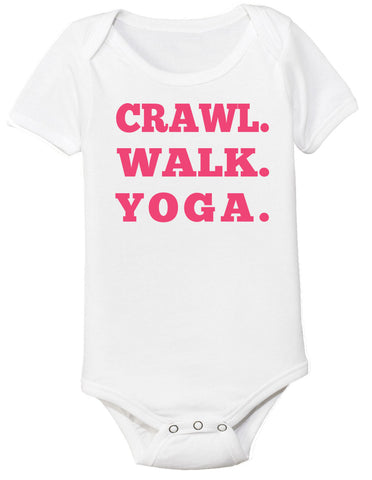 Crawl Walk Yoga Bodysuit - Clever Fox Apparel