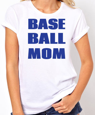 Baseball Mom Shirt - Blue Text - Clever Fox Apparel