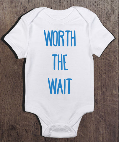 Worth The Wait Bodysuit - Blue Design - Clever Fox Apparel