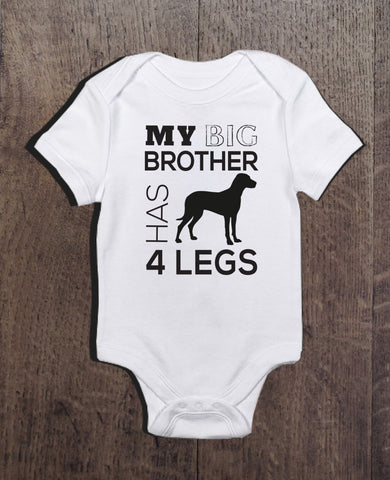My Brother Has 4 Legs Bodysuit - Clever Fox Apparel