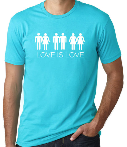 Love Is Love T-Shirt-Men's - Clever Fox Apparel