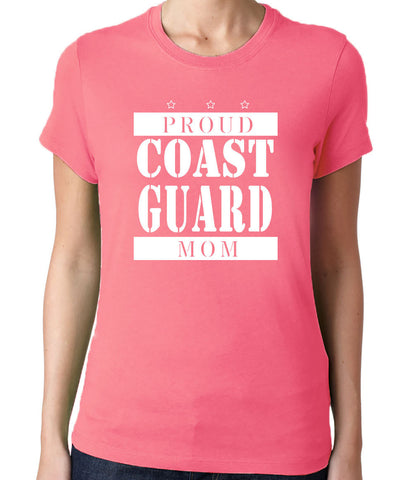 Proud Coast Guard Mom T-Shirt - Clever Fox Apparel