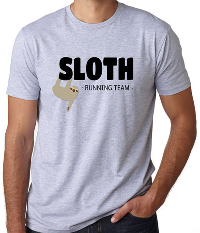 Sloth Running Team T-Shirt (Available for Men and Women) - Clever Fox Apparel