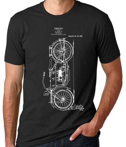 Motorcycle Patent Shirt - Clever Fox Apparel