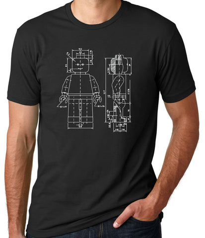 Lego Figurine Patent T-Shirt-Men's - Clever Fox Apparel