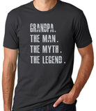 Grandpa The Man The Myth The Legend T-Shirt - Clever Fox Apparel