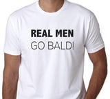Men's Real Men Go Bald T-Shirt - Clever Fox Apparel