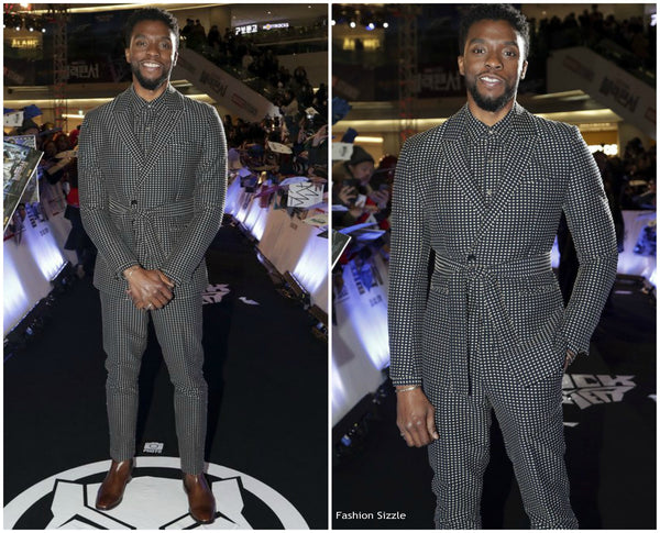 Chadwick Boseman Suit Missing Necktie