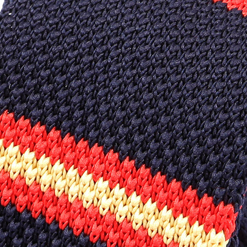 Navy Red Knit Tie