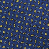 Blue with Yellow Micro Floral Silk Tie