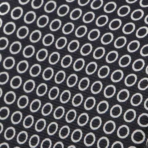 Black & White Micro Circles Silk Necktie - Handmade Silk Wool And Knitted Ties by Tie Doctor