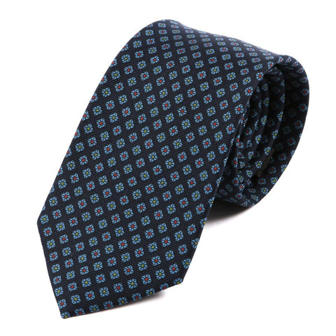 Crown Navy Jewel Silk Tie