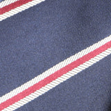 Navy Davidson Striped Skinny Tie