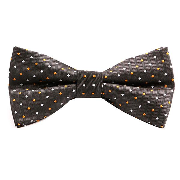 Tyson Orange Polka Dot Bow Tie