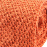 Orange Wool Knit Tie