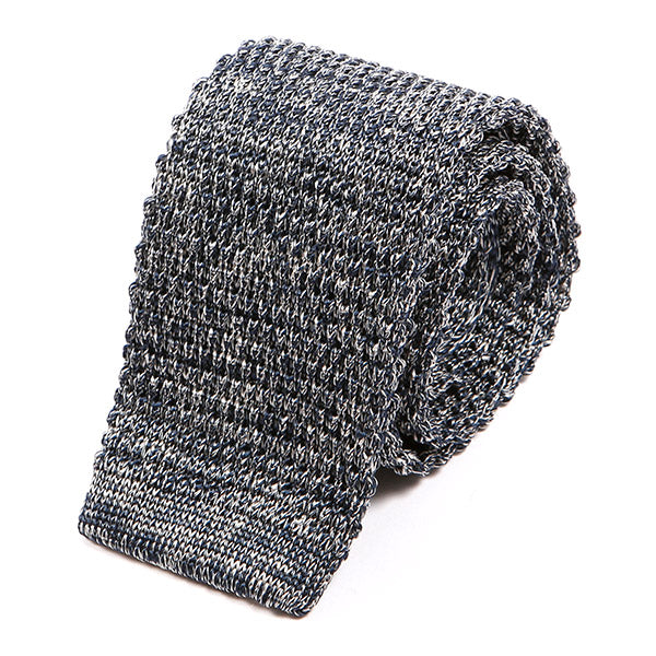 Blue Mesh Silk Knitted Tie