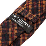 Brown Check Wool & Silk Tie