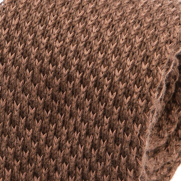 Brown Knitted Wool Tie