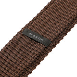 Dark Brown Silk Knitted Tie