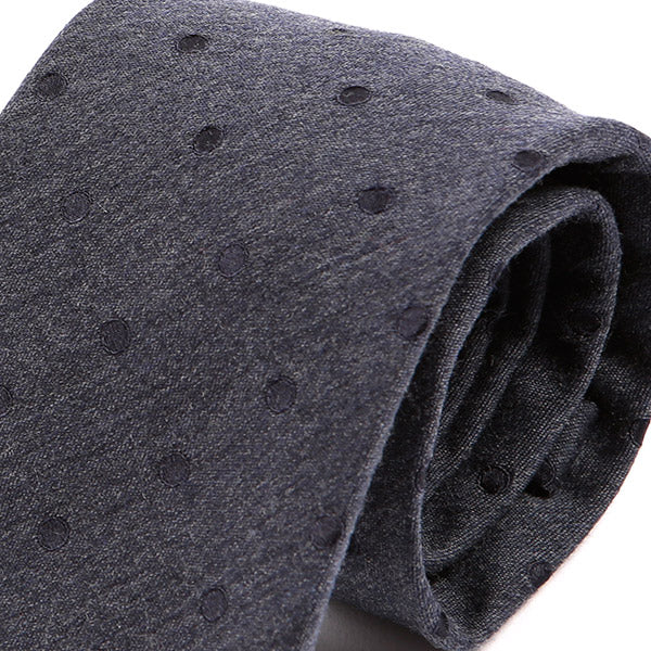 Blue Polka Dot Silk & Wool Tie, One of One
