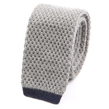 Grey Knitted Wool Tie