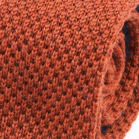 Burnt Orange Wool Knitted Tie