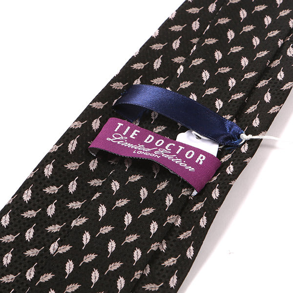 Blue Thin Silk Knitted Tie