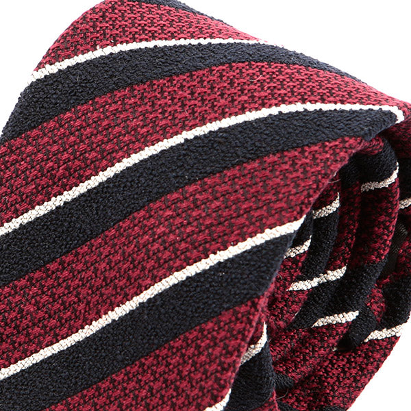 Red Thick Stripe Wool Tie