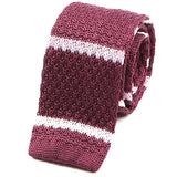 Mulberry Striped Silk Knitted Tie