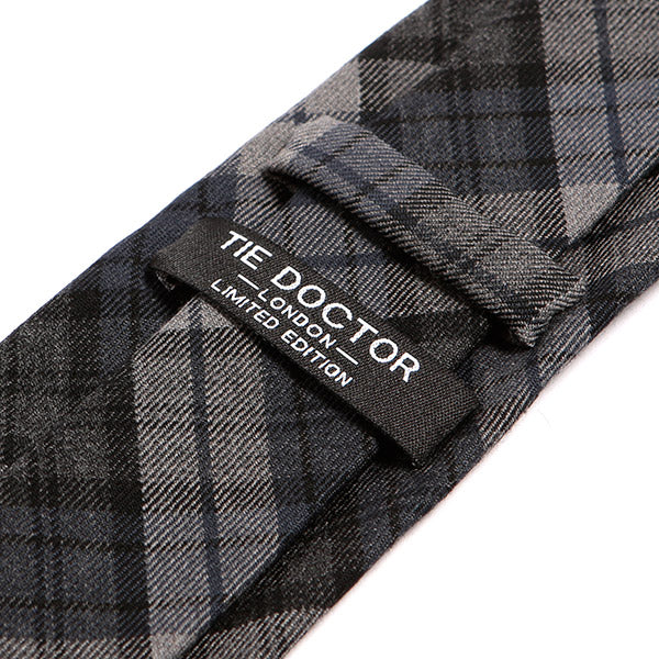 Blue Check Modern Wool Tie, One of One