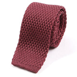 Scarlet Red Silk Knitted Tie